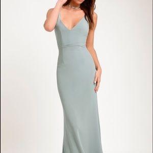 Lulu's Melora Slate Blue Maxi Dress - All Sizes